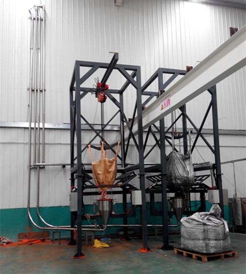 真空上料机输送木炭粉红丹(铅丹)技术